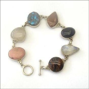 Indian Bracelet with Mixed Gemstones